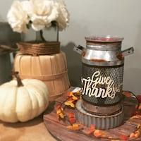 Scentsy Give Thanks Milk Can Warmer - Brand New In Box Laurel