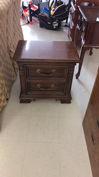 brown wooden 2-drawer nightstand Gaithersburg, 20877