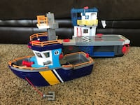 Imaginext Lot - Pirate Ship & Aircraft Carrier - 83rd & K7, XP Lenexa, 66227