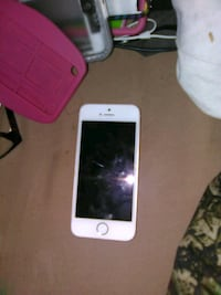white iPhone 5 with pink case