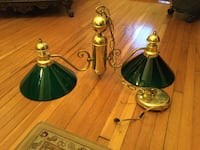 Brass-colored pub table light