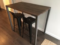 "CB2 42"" High Dining Table Vancouver, V5T 1A1"