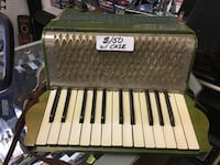 Old accordion with case  Meriden