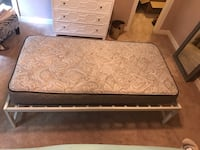 Twin bed frame and mattress  Chesapeake, 23322