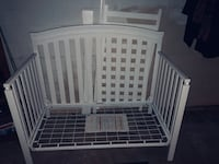 Never used white wood crib
