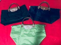women's green leather tote bag