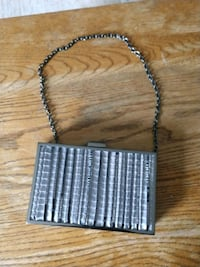 Lulu Townsend New Evening Metal & Bling Clutch with Chain handle Hanover, 17331