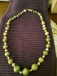 Green wood bead necklace  Menifee, 92584