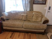 brown suede 2-seat sofa and love seat Nampa, 83687