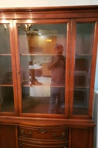 brown wooden framed glass display cabinet Silver Spring, 20904