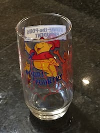 Winnie the pooh glass 1970s collectors gadget new