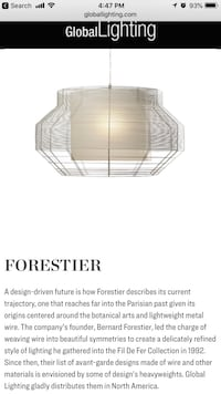 Forestier Lighting Pendant ( New ) in box Beltsville, 20705