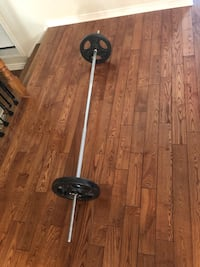 "6 foot barbell 1"". No weights included"