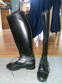 Negotiable Womens 9 black equestrian show boots Silver Spring