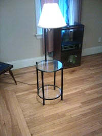 Lamp n glass table