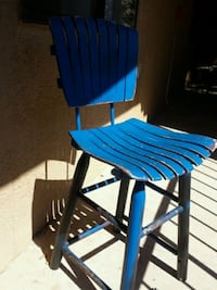 blue and black wooden chair Albuquerque, 87123