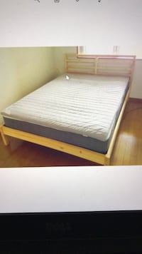Queen IKEA Real Wood Frame Bed, will Deliver ! Annandale