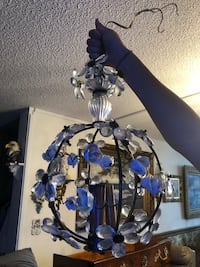 Italian chandelier with crystal flowers and porcelain roses Toronto, M2R 3N1