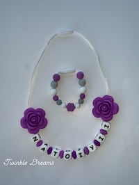 white and purple beaded bracelet Richmond, V6Y 1P3