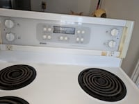 white and black electric coil range oven Belleville