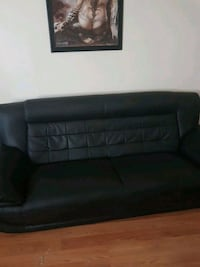 black leather  sofa Regina, S4T