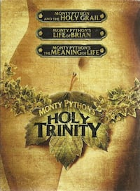 dvds MONTY PYTHON'S HOLY TRINITY - DVD  Includes: - Monty Python and the Holy Grail - Month Python's Life of Brian - Monty Python's The Meaning of Life  Pre-owned dvds in very good condition Newmarket