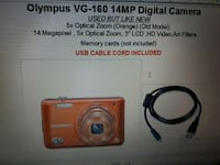 OLYMPUS VG 160 14MP digital camera with USB cable Fevik
