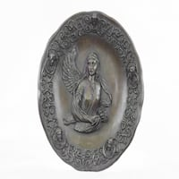 Guardian Angel Bas Relief Protector Religious Belief (9X9 Inches) Sterling