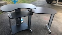 black wooden single pedestal desk Burnaby, V3N 1L7