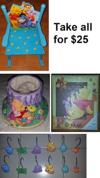 Disney Winnie the Pooh Themed Lot (Take all for $25) Mississauga
