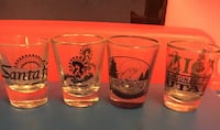 four printed clear drinking glasses Price, 84501