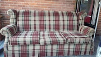 red and white checkered couch Brock, L0K 1A0