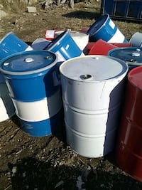 55 gal barrels some with removable top Harvey, 50119