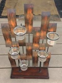 Brass framed candle holder London, N5X 4J9