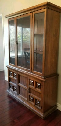 Brown wooden framed glass China cabinet San Jose, 95148