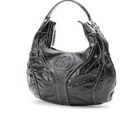 GUCCI Black Patent Leather Glam Snow Hobo Bag Sherwood Park, T8A 4E4