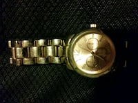 round gold-colored analog watch with link bracelet Portland, 97230