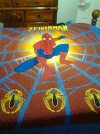 blue and red Spider-Man print textile Montréal, H2B 2E5