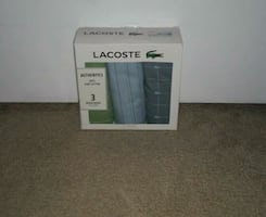 Lacoste Cotton Woven Boxers 3 Pack Size XL/XG New