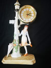 Crosa Qurtz Street Lamp Clock French Lady R. De Ravoli Yonkers