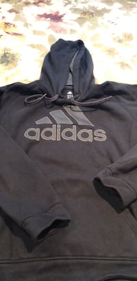 Black and gray adidas pullover hoodie Vancouver, V6J