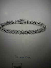 Sterling silver diamond tennis bracelet with clasp Bakersfield, 93306