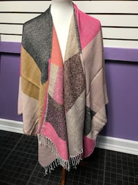 Pink n grey color block wrap