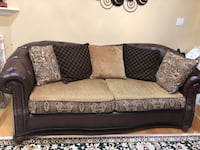 Brown and black fabric 2-seat sofa Vaughan, L6A 0K4