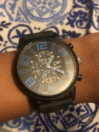 Pinbo analog watch Blue & Black negotiable