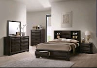King bed frame dresses mirror nightstand  Garland, 75040