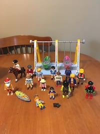 Playmobil figures and boat swing
