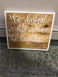 Wood Sign Hand Painted London, N6K 1M1