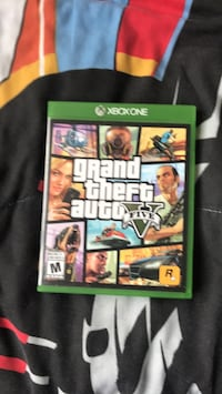 Grand Theft Auto Five Xbox One game case Toronto, M1V