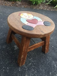 Wooden painted child's stepping stool